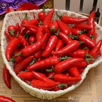 Wholesale Artificial Simulation Red pepper plastic chili Artificial Vegetables Photography Props Christmas Ornaments Weddding party home decorations