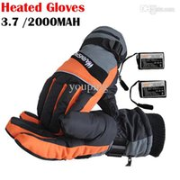battery warmed gloves - WARMSPACE V Heating Gloves With MAH Rechargeable Lithium Battery Skiing Gloves For Winter Warmer Outdoor