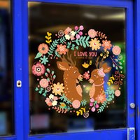 baby tv live - Removable Color Deer Wall Sticker Children Room Decoration Baby Nursery Living Room TV Wall Decals Bedroom Background For Kids