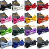 Wholesale Men s Fashion Tuxedo Classic Solid Color Butterfly Wedding Party Bow tie Red Black White Green Bow Tie
