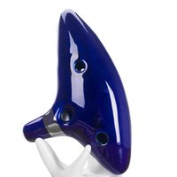 Wholesale Musical Instruments Ocarina Legend of Zelda Ceramic Holes Kiln fired Flute Ocarina Fashion