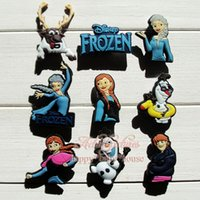 anna clogs - Cute Froze Elsa Anna Princess Cartoon Charms for Bracelets Logo shoe charms buckles Accessories For Clogs JIBZ Wristbands Party Gifts