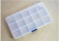 Wholesale Grids Adjustable plastic box Nail Art Pickup Kit Divider Storage Jewelry box