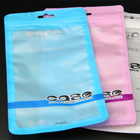 Wholesale 12 cm Clear Colors Poly Bags OPP Packing Zipper Lock Packages Accessories PVC Retail Boxes Handles for Mobile iPhone Samsung Cell Phone