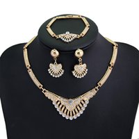coral coral necklace - 2015 K Gold Plated Colorful Austrian Crystal Jewelry Sets vintage Fashion Necklaces For Women Imitation Wedding Accessories