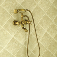 Wholesale European retro all copper shower faucet simple shower into the wall bathtub faucet