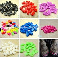 Wholesale Colorful Pet Nail Sets Cat Armor Products dog nail sets catlike sets the cat claw set Send glue Free of charge of glue
