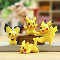 Wholesale new lovely Poke version PVC toys cm Pikachu Collectible Action Figure doll toys yellow Pikachu gift style