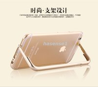 aluminum frame - Ultra Lightweight Aluminum metal bumper frame case with folding foldable stand holder for iPhone iphone6 plus i6 quot quot DHL