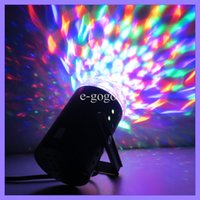 Wholesale 3W Full Color RGB LED Crystal Voice activated Rotating RGB Mini Stage Light Lamp for DJ Disco KTV party Christmas led light