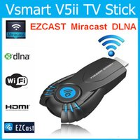 Cheap Vsmart V5ii EZcast TV Stick DLNA Miracast Airpaly Mini iPush Adaptor Visson Dongle HDMI Wifi Display for Android IOS Laptop Windows PC 10pcs