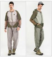 Wholesale fishing outdoor clothing set Mosquito prevent suit camping clothing set outdoor Mosquito prevent clothing suit