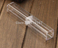 Wholesale high quality Clear crystal ballpoint pen packaging box case frozen pen pencil display box storage gift box free shippment
