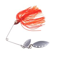 crappie jigs - New Fishing Lure Spinnerbait Crappie Fresh Water Shallow Water Bass Walleye Minnow Fishing Tackle Lures with Jig Hook g