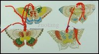 Wholesale Butterfly Bookmarks Sets Cloisonne Metal Copper Fashion Handmade Gift Chinese style Christmas Wedding Birthday Party Favor sets