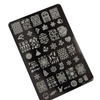 Wholesale Christmas Santa Snow Nail Art Stamp Template Image Stamping Plates Manicure DIY Polish Stencil Beauty Nail Tools MR01