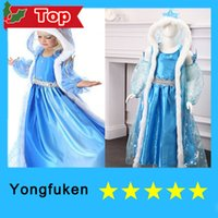 Cheap NEW FROZEN DRESS ELSA ANNA PRINCESS DRESS KIDS COSTUME PARTY FANCY SNOW QUEEN