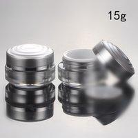 acrylic cream jars - DHL Top Grade g Round Silver Acrylic Jar Cream Jar for Cosmetic Packaging