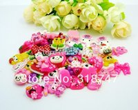 animal mobile craft - 100pcs Sweet Kawaii Cartoon Crafts Mix Colors Mobile Phone DIY Accessory Children Hair Ring Accessories