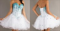 2.015 Populares baratos Vestidos Homecoming Sexy Lace-up Voltar Multi Color curtos Prom Vestidos Mini Princesa Puffy Bola Vestidos Querida Beading