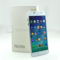 Wholesale Metal Shell Note MTK6582 Quad Core GHz HDC Andriod5 Smart Phone Fake G LTE Show GB GB Unocked G