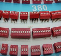 Wholesale freeshipping digit toggle switch dial switch through hole