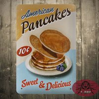 american pancakes - American Pancake Sweet Delicious Metal Sign Retro Cafe Restaurant Kitchen Decor F