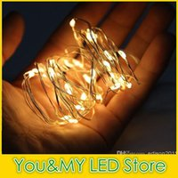 Wholesale 5M LEDs Battery Strings Mini LED Copper Wire String Light AA Battery Operated Fairy Party Wedding Flashing LED Christmas Purple Pink