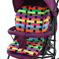 Wholesale 2015 New Baby Stroller Seat Cushion Cotton Plaid Baby Car Pad Stroller Accessories Pram Plaid Cotton Thick Mat