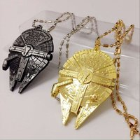 Wholesale 2016 Hot Movie Star Wars Force Awakening necklace new Star Wars Airship key ring Keychain necklace CNE free