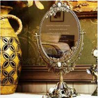 Wholesale Spot Korea purchasing genuine retro exquisite bronze Desktop Desktop sided mirror cosmetic mirror