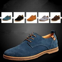 Wholesale 2015 New Men Skateboarding Shoes casual Suede Leather men Sneakers oxford shoes flat Plus size