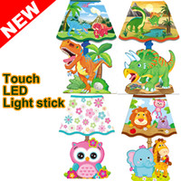 Wholesale Toy figures Wall Sconces Led bedroom lighting For Kids Night Lights Party Home DecoratioN Sticker Lamp Cartoon Animals Wall Lamp