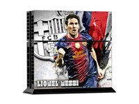 Cheap Pop Lionel Messi PS4 Decal PS4 Skin Vinyl Stickers 1 Console Skin+2 Controller Cover Decals