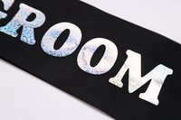 bachelor party accessories - Wedding party favor Black satin sash GROOM TO BE events supplier favor wedding accessories stag night bachelor party