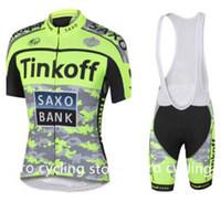 banks racing - 2015 Saxo Bank Tinkoff Cycling Jersey Men Breathable Anti Shrink Racing Bicycle Clothing Quick Dry Lycra GEL Pad Race MTB Bike