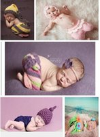 Cheap Crochet newborn baby boy and girl outfit costume picture photography props 0-12M Come take a look