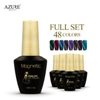 azure factory - Azure magnetic stick nail polish full set colors Cat Eyes Gel Polish China nail gel by magnet stick Factory direct sale