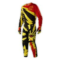 air checkers - Hot sale Mx Gear SE Pro Checker Motocross Pants FREE JERSEY sports GP AIR CYCLOPS VENTED POLYESTER MESH Yellow MX Kit
