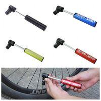 Wholesale 4 Colors Aluminum Alloy Mini Portable Bicycle Air Pump Bike Tire Inflator Super Light Small bike accessories