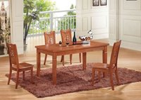 dining table and chair - Factory direct oak dining tables and chairs with a turntable table solid wood dining table and living room dining table