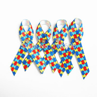 autism awareness pins - 1000pcs Autism Awareness Lapel Pin Puzzle Piece Multi Colored Ribbon