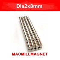 Wholesale Whole Sales Brand New Rare earth Neodymium Strong Permanent rod Magnet pack dia2x8mm