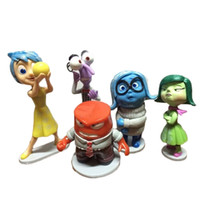anger kids - 5 Set Inside Out PVC Action Figures cm Fear Happiness Sadness Anger Kids Dolls Toys For Boys Girls A