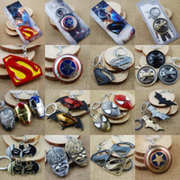 Wholesale Free DHL Avengers Superhero Keychains Captain America Flashman Superman Batman Ironman Spiderman Trans Former Autobot Key Chains