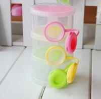 caja de leche en polvo 3 celdas de la cuadrícula portátil, la alimentación infantil del bebé Botella contenedor de alimentos de la caja