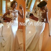 Wholesale Cap Sleeves Lace Open Back Mermaid Bridal Gown New Sexy Wedding Dresses Bridal Gowns