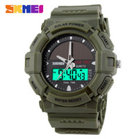 atomic sports watch - New Solid Watches Men Clock Resin Atomic Solar Sports Watch Time Zone Digital Led Quartz Men Wristwatches Casual Watches