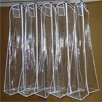 Wholesale Cheap Wedding Dust Cover Portable Dual Use Bags Train Evening Prom Wedding Dress Dust Cover In Stock
