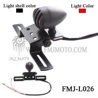Wholesale FMJ L026 Hot Sale Black Hot Motorcycle LED License Brake Tail Light Turn Signals light harley rear stop light